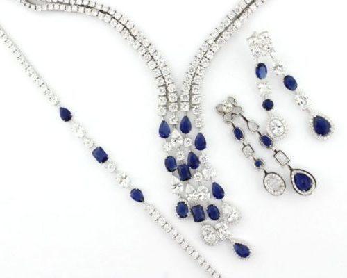 Set Silver Sapphire
