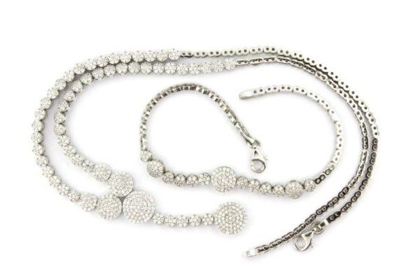 Set Silver Zirconia