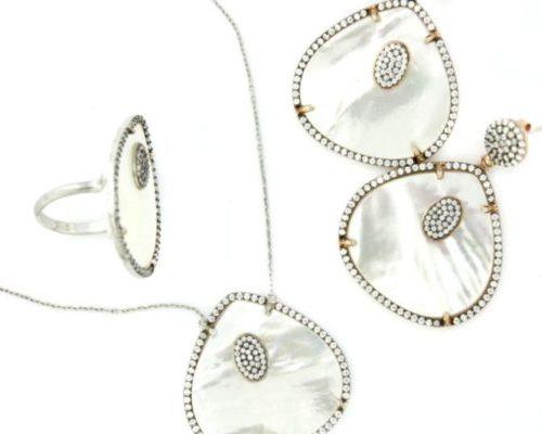 Set Silver Abalone