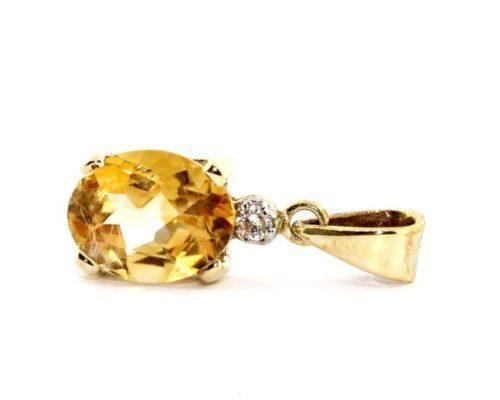 Citrine Gold Pendant