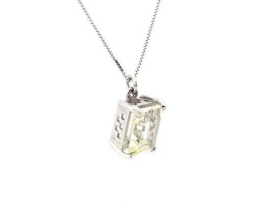 Topaz Gold Pendant with Chain