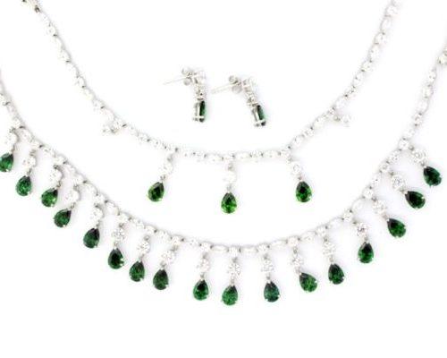 Set Silver Emerald