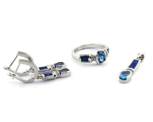 Set Silver Opal