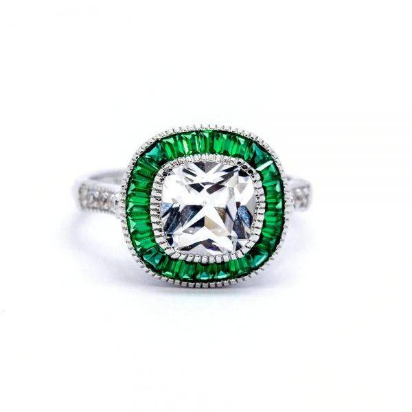 Emerald Silver Ring