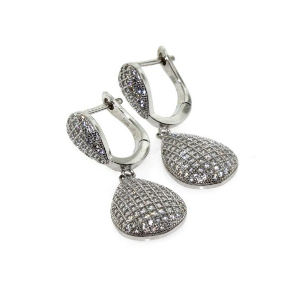 Zirconia Silver Earrings