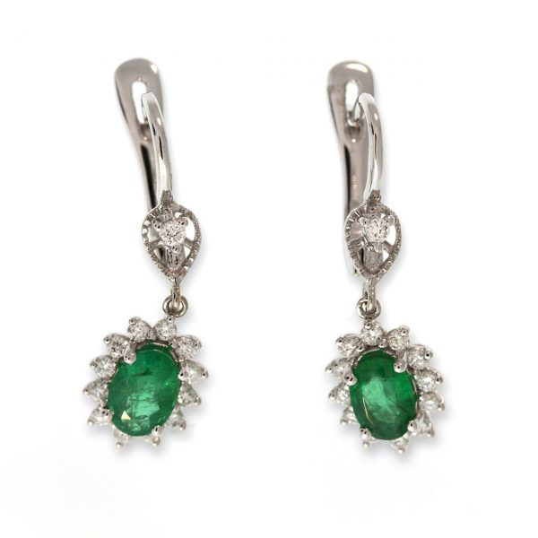 Emerald Gold Earrings