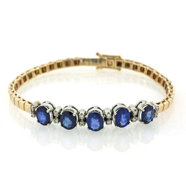 Sapphire Gold Bracelet