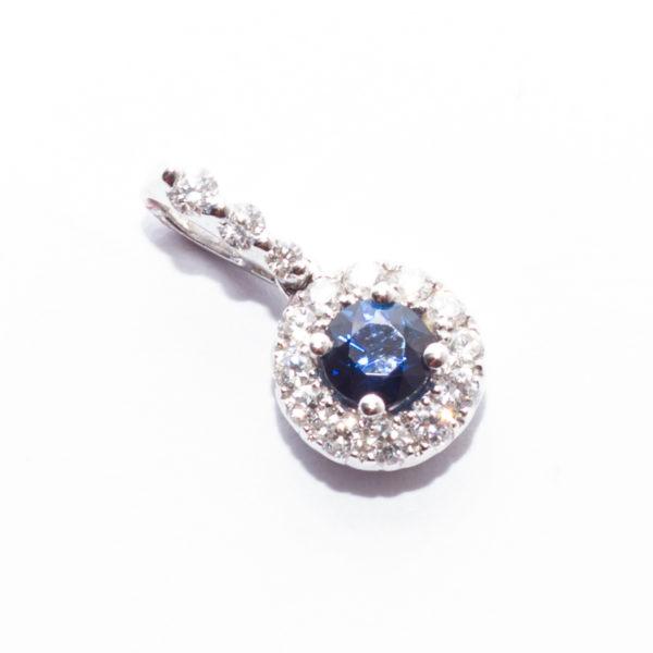 Sapphire Gold Pendant
