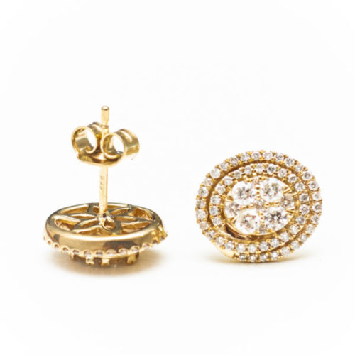14K YELLOW GOLD EARRINGS WITH WHITE DIAMOND(S)