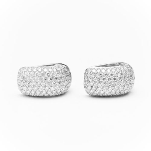 18K WHITE GOLD EARRINGS WITH WHITE DIAMOND(S)