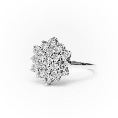 14K GOLD EARRINGS WITH WHITE DIAMOND(S)